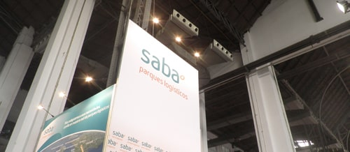 Fabric stand for Saba Logistics