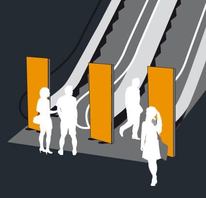 mural vertical para presentacionesd e producto. Display