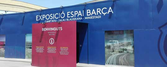 Espai Barça exhibition with Ledtex lightboxes