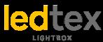 Cajas de luz con tela impresa.